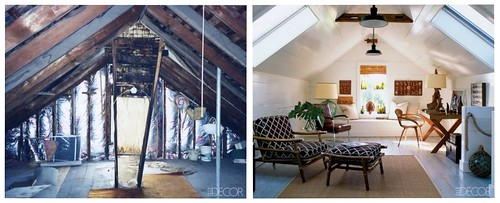 Attic Makeover Before Amp After Hamptons Loft From Elle De