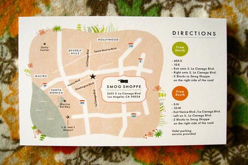 Map Wedding Invite with nice invitations design