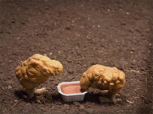 Banksy raising chicken nuggets   Another Gif animation ... Raising English