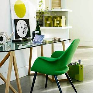 ... Green + Modern: Charles Eames U0026 Eero Saarinen Organic Shell Chair For  Vitra | By