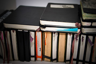 James Cospito's Moleskine Stash, Brooklyn Art Project HQ / Dumbo Arts Center: Art Under the Bridge Festival 2009 / 20090926.10D.54637.P1.L2.C23 / SML | by See-ming Lee 李思明 SML