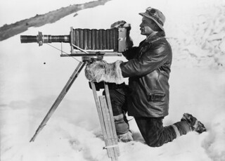 Herbert George Ponting and telephoto apparatus, Antarctica, January 1912 | by National Library NZ on The Commons