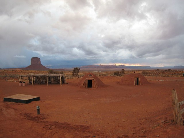 IMG_1325 | Navajo shade house, male hogan and female hogan ...