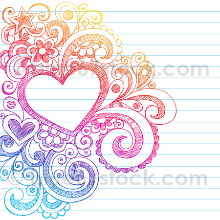 Hand Drawn Abstract Sketchy Heart Doodle Drawing Vector Il Flickr