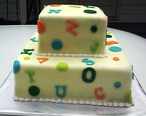 Dots Baby Shower Cake |
