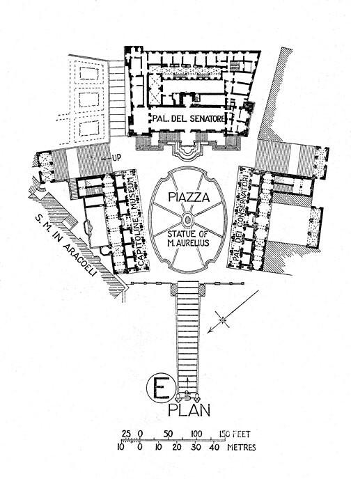 piazza del campidoglio  capitoline hill   plan