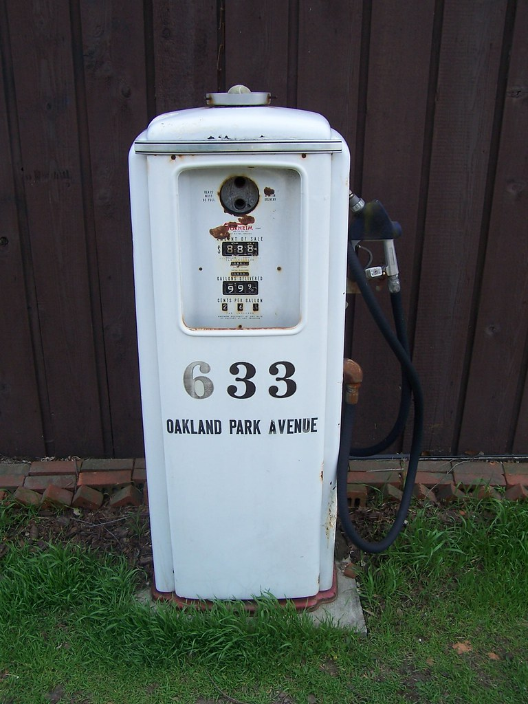 Vintage Gas Pump with Address On It | An old gas pump ...