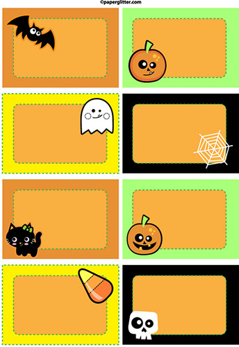 Versatile image inside free printable halloween tags
