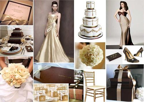Chocolate & Gold Wedding Theme