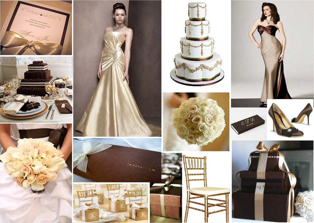Chocolate & Gold Wedding Theme