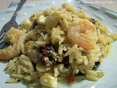 Baked Lemon-Oregano Orzo & Shrimp | by CinnamonKitchn