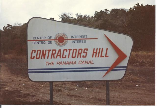 Panama Ccontractors Hill Sign To Contractors Hill