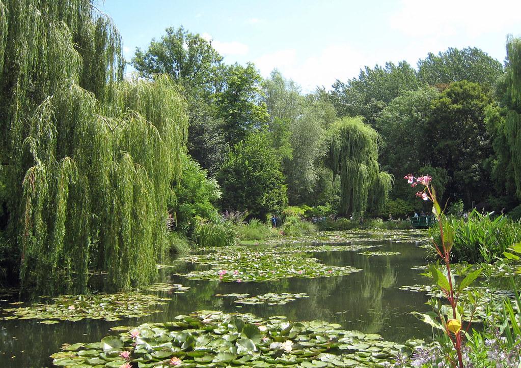 057 giverny le jardin du monet the willow trees john for Le jardin 3d