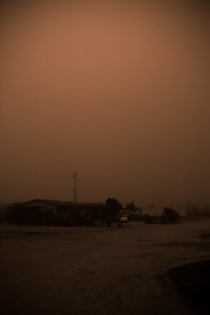 Dust Storm Somewhere In Goodyear Az During An Early