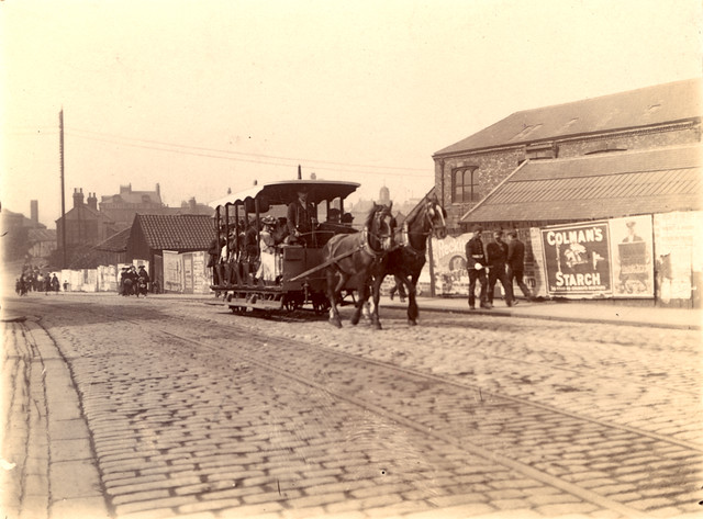 035438 Horse Drawn Tram Station Road South Shields Unknown