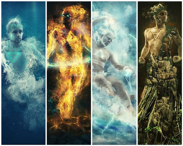 Four Elements Art : The four elements 1. 354 365 water 2. 353 fire u2026 flickr