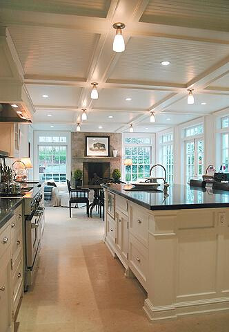 Coffered ceiling in kitchen for Describe your perfect kitchen