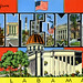 Greetings from Montgomery, Alabama - Large Letter Postcard