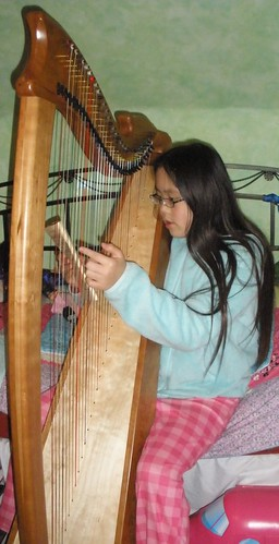 Sophia Playing the Harp | by Pictures by Ann