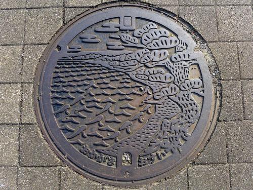 Okagaki Fukuoka, manhole cover (福岡県岡垣町のマンホール)