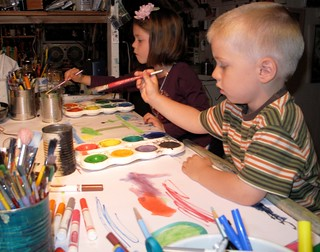 Students painting at my studio in Queens, NY | by Denis Ponsot Art Studios