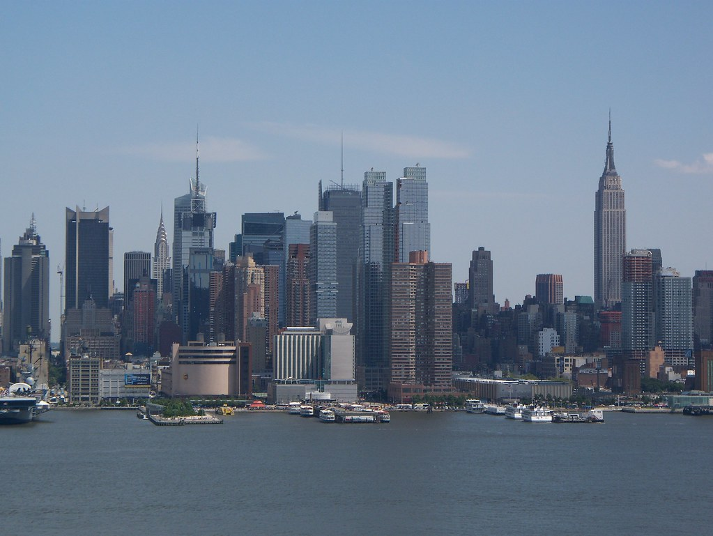 New York City Skyline View From Weehawken Nj New York