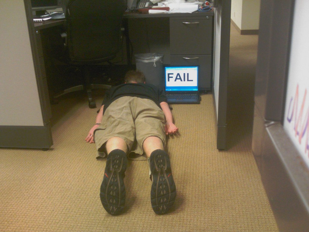 Cubicle worker FAIL. For the FDT (Face Down Tuesday) group ...