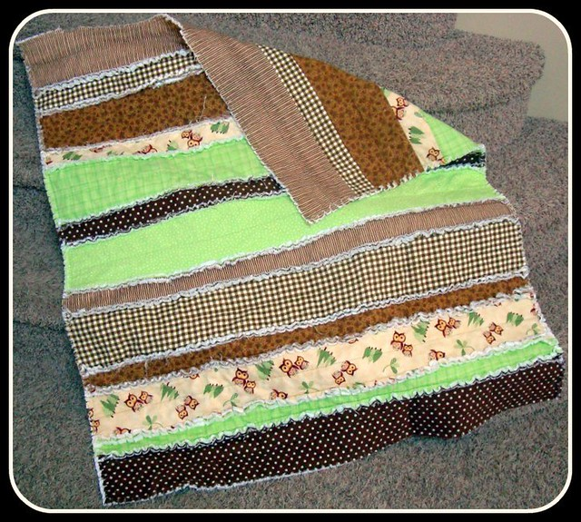 Owl Rag Quilt Easy Rag Quilt Made With Strips Of Flannel