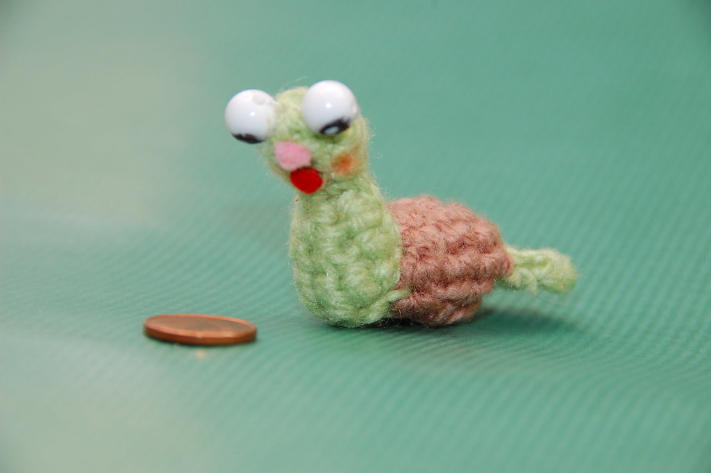 Amigurumi Caracol : Un caracol amigurumi Miniatura Tejida, Amigurumi ...