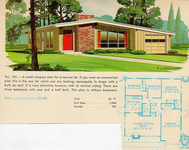 half basement garage homes and plans of the 1940s 50s 60s and 70s flickr