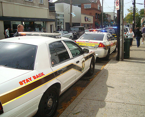 G20: Police line-up on Walnut in Shadyside | by BoringPittsburgh