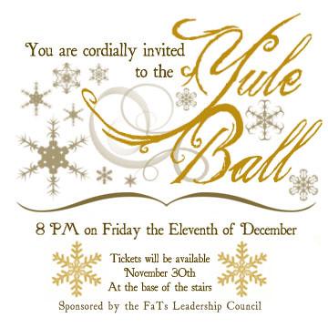 Yule Ball Invitation My invite design for the Yule Ball E Flickr
