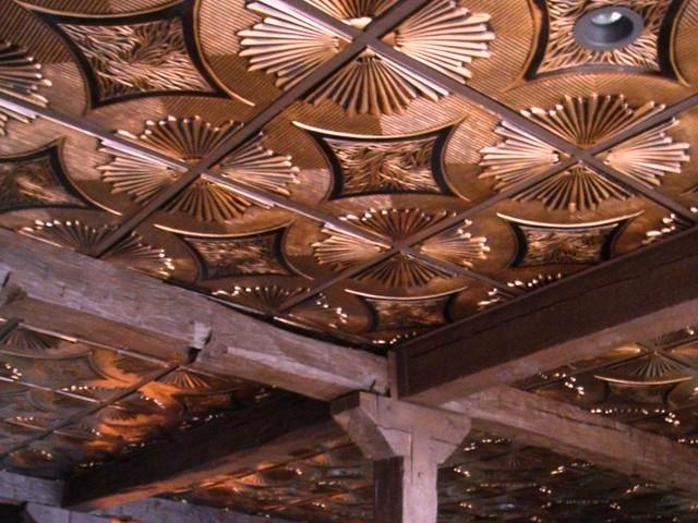 Antique Copper Faux Tin Ceiling Tile 201 Antique Copper
