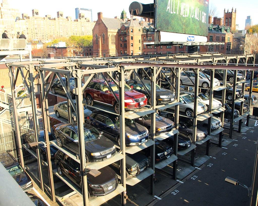 Elevator parking garage chelsea new york city ny style for New york city parking garage
