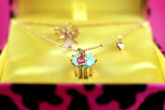 Betsey Johnson Cupcake Necklace | by Bakerella