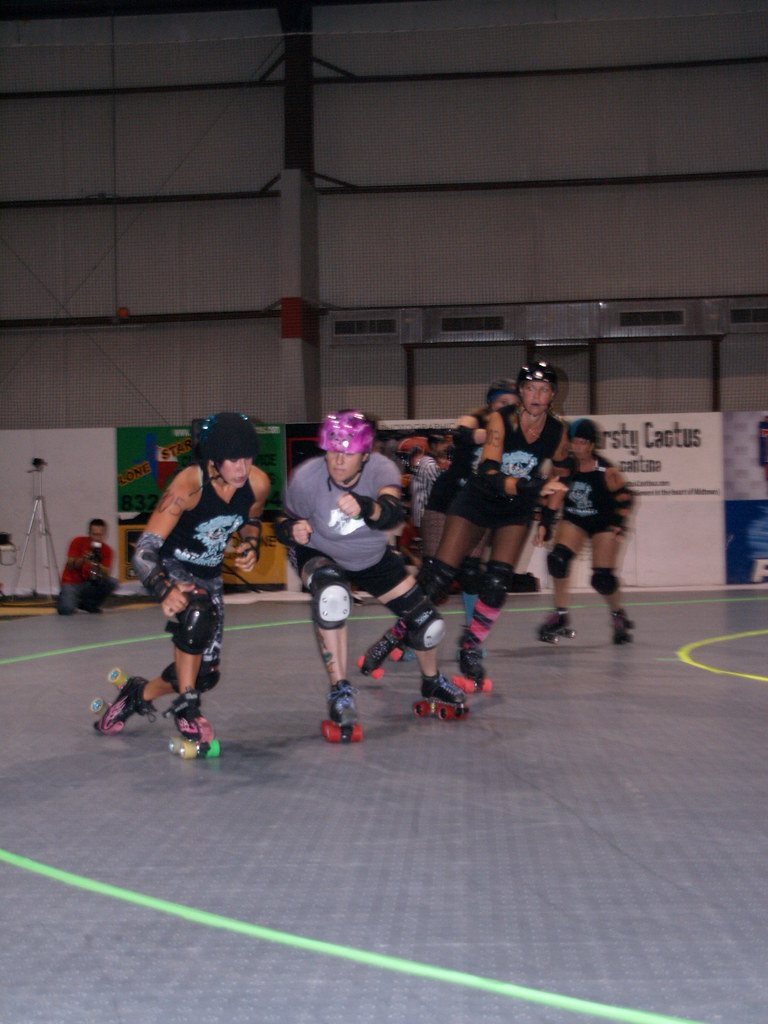 Roller skating houston -  Houston Texas Roller Derby Championship Title Bout August 15 2009 Bayou City Bosses Vs Psych Ward