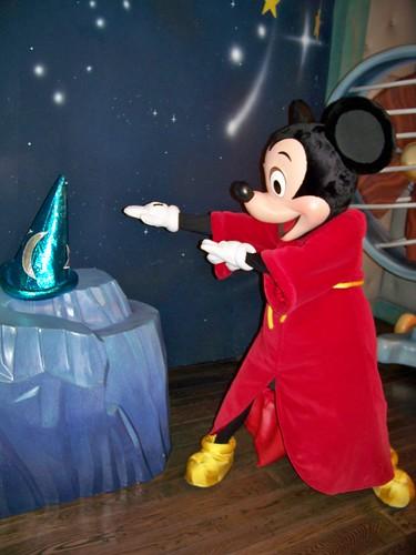 Sorcerer's Apprentice Mickey plays in the Fantasia Room ...