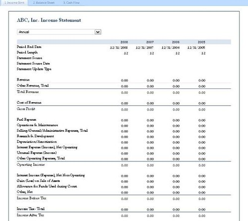 Flexible Financial Statement   By SpreadsheetZONE Flexible Financial  Statement   By SpreadsheetZONE  Finance Report Template