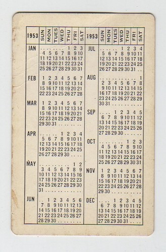 S And S Motors >> 1953 NYO&W Railway Pocket Calendar | Reverse of a 1953 ...