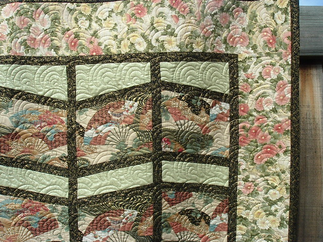 Shoji Screen Quilt By Phyllis Heath Quilted By Dlq R Flickr
