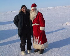 "Andy Revkin Near North Pole with ""Santa,"" 2003 