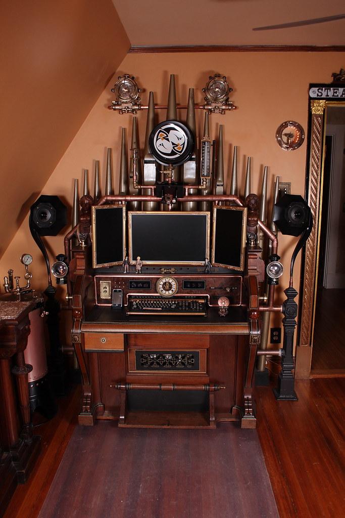 Steampunk-organ-cockpit-desk (15) | Jake von Slatt | Flickr