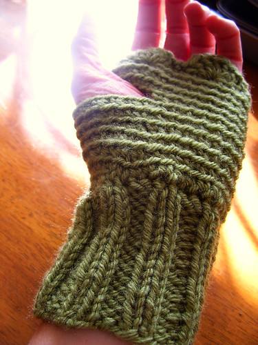 olive shortie mitts | by cseneque