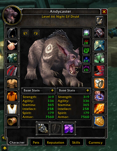 Andycaster Druid Bear Form Stats | This is the character inf… | Flickr