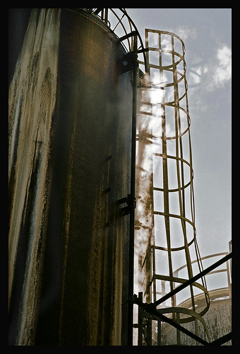 Silo and Smoke, Shipping Yards, Baltimore, Maryland | by ricepeter