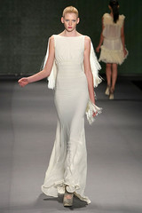 David Tlale Long cream dress with fringed open back | by africanvibes