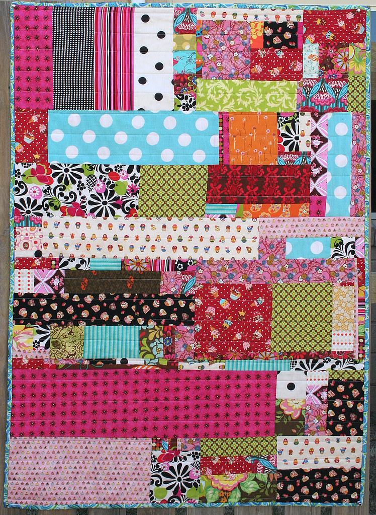 lap scrap quilt lap quilt handmade by me with scraps left ? Flickr
