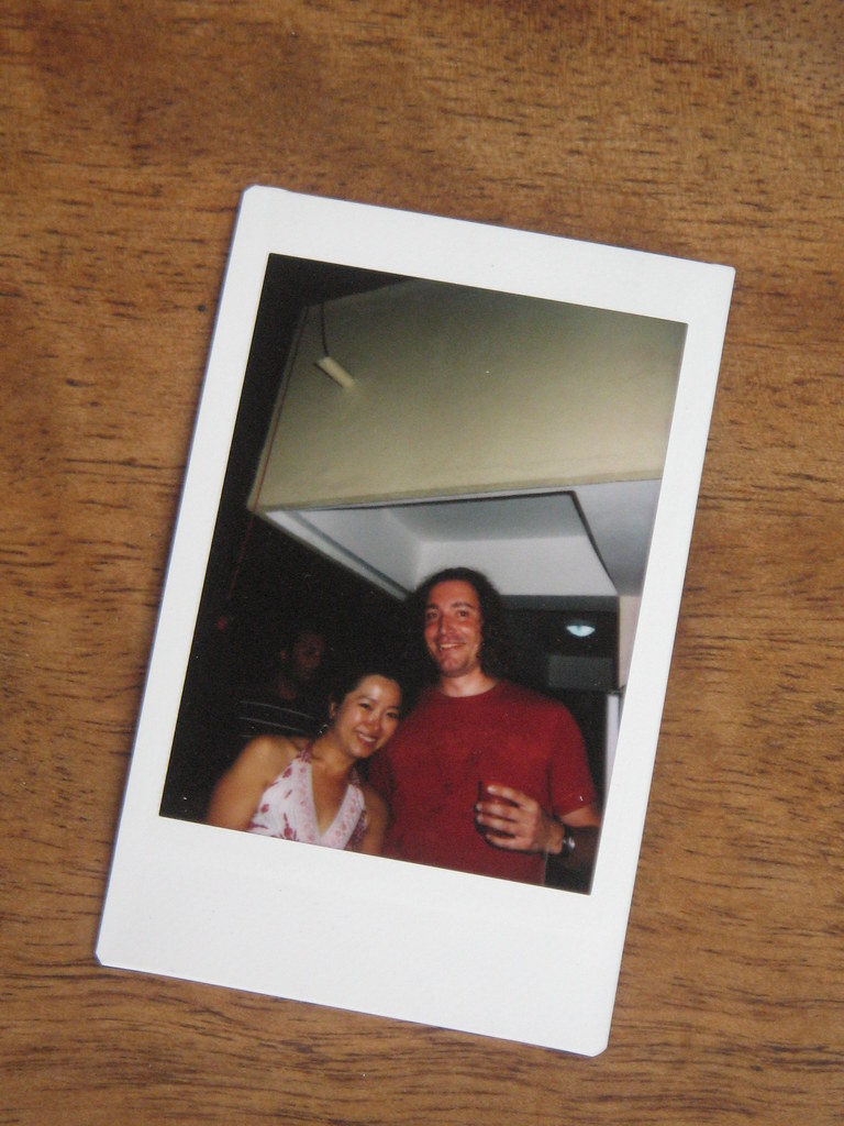 Polaroid of half-drunk Korean girl and me - Rooftop party ...