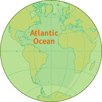 Atlantic Ocean Location Map Location map for the Atlantic Flickr
