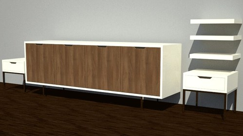 Ordinaire ... Guest Bedroom Credenza U0026 Bed Side Pieces | By Aliu0027s Philly Real Estate  U0026 Design Boutique